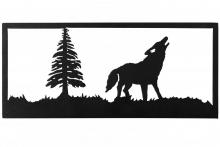"Meyda Tiffany 162079 - 18""W Lone Wolf Wall Art"