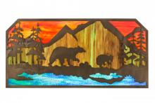 "Meyda Tiffany 165049 - 45.5""L Bear at Lake Wall Art"