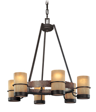Troy F1846BB - BAMBOO 6LT CHANDELIER