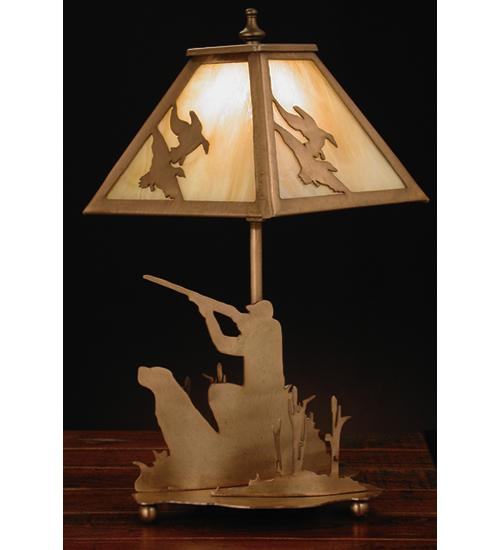 15 5 H Duck Hunter W Dog Accent Lamp