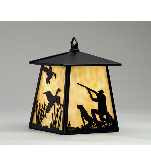 7 5 Sq Duck Hunter W Dog Hanging Wall Sconce