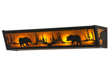 "Meyda Tiffany 14238 - 24""W Bear at Lake Vanity Light"