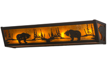 "Meyda Tiffany 14346 - 24""W Bear at Lake Vanity Light"