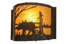 "Meyda Tiffany 152609 - 12""W Bear at Lake Wall Sconce"