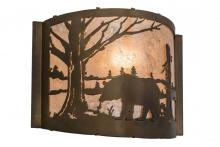 "Meyda Tiffany 169675 - 12""W Bear at Lake Wall Sconce"