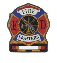 PERSONALIZED FIREMAN'S SHIELD