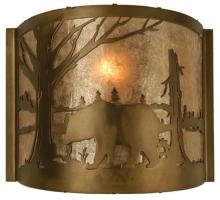 "Meyda Tiffany 73308 - 10""W Bear at Lake Wall Sconce"
